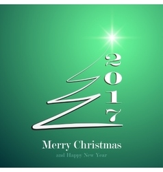 Marry christmas and happy new year 2017 background vector