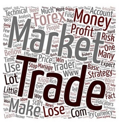 Profitable forex strategies and techniques text vector
