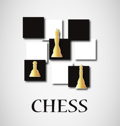 Gold chess vector