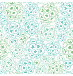 Mint green and blue abstract seaweed plant vector