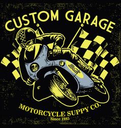 Retro motorcycle race vector
