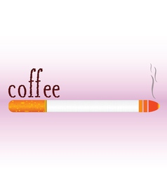 Cigarette with coffee bean word vector