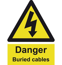 Danger Buried Cable Safety sign vector image