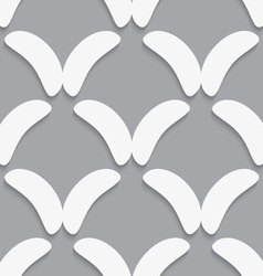 White bean shapes on gray pattern vector