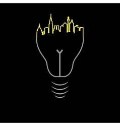 Night city bulb vector