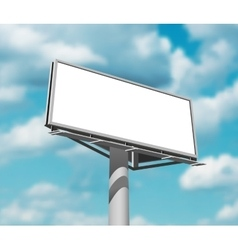 Billboard against sky background day image vector