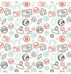 Social media and internet seamless pattern - vector