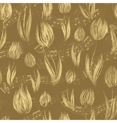 Bright seamless pattern with oil painted beige vector