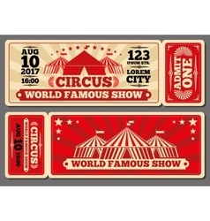 Circus magic show entrance tickets vector