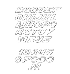 Script font cursive black on white background vector