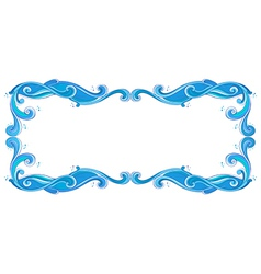 A blue unique border vector image