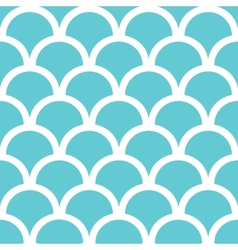 Abstract blue fishscale seamless pattern vector image