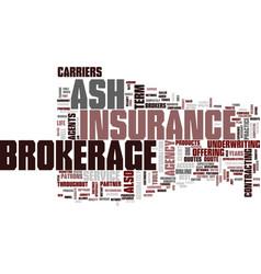 Ash brokerage text background word cloud concept vector