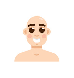 bald-headed man character flat style vector image vector image
