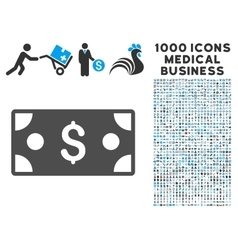 Banknote Icon with 1000 Medical Business vector image vector image