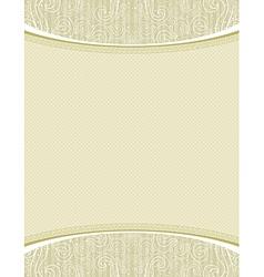 Beige certificate background vector