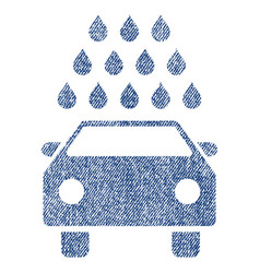 Car wash fabric textured icon vector