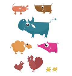 Cartoon farm animals vector