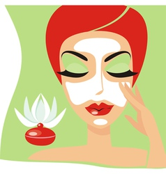 cosmetology mask vector image vector image