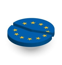 European union pie chart vector