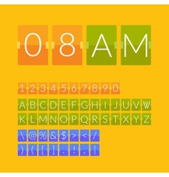 Flat countdown timer vector