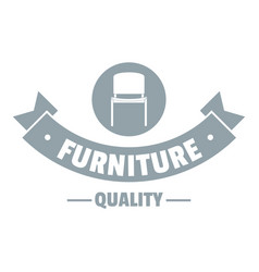 Furniture quality logo simple gray style vector