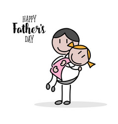Happy fathers day hand on white background vector