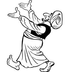 Hospitable Arab vector image vector image