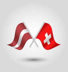 Icon of latvia and switzerland vector