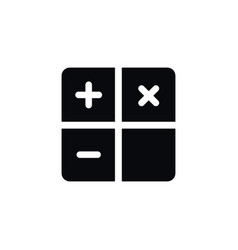 Isolated calculator icon subtraction vector