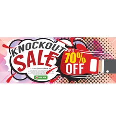 Knockout sale 1500x600 pixel vector