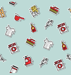 laundry concept icons pattern vector image vector image