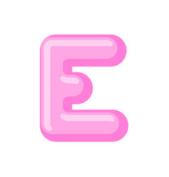 Letter e candy font caramel alphabet lollipop vector