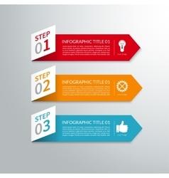 Modern minimal arrow paper infographic elements vector