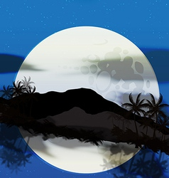 moonrise vector image