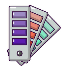palette guide icon cartoon style vector image