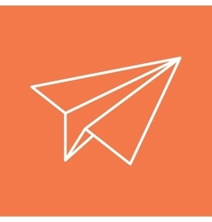 Paper plane thin line icon paper origami airplane vector