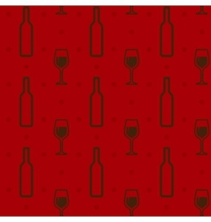 Seamless background with wine bottles and vector