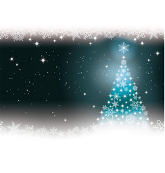 seamless winter background with christmas tree vector image vector image