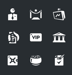 set of bank vip service icons vector image