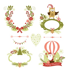 Set of Christmas and New Year graphic elements vector image