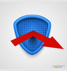 Shield reflect arrow protection conceprt vector