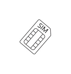 sim card line icon outline logo vector image