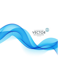 Smoky blue waves abstract background vector