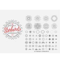 Sunburst design elements vector image vector image