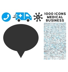 Banner icon with 1000 medical business symbols vector