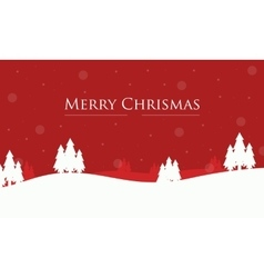 Merry christmas spruce winter landscape vector