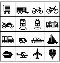 Transportation icons isolated on white vector