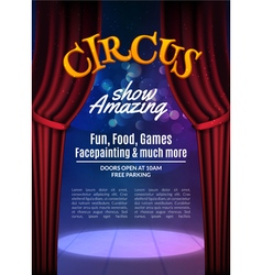 Circus show poster template with sign Festive vector image