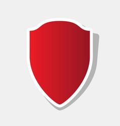 shield sign new year reddish vector image
